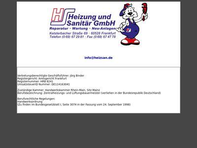 Heizung und Sanitär GmbH
