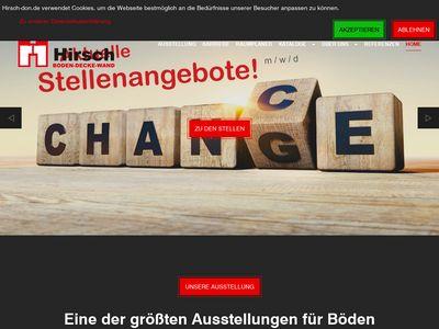 Hirsch - Boden Decke Wand