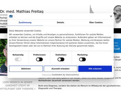 Freitag Mathias Dr.med. Hals- Nasen- Ohrenarzt