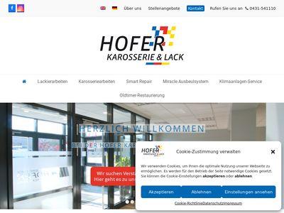 Hofer Karosserie + Lack GmbH Karosseriebau