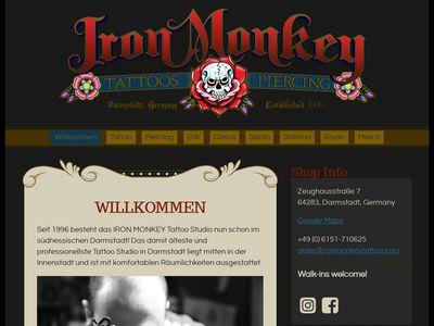 Nitz Erik Iron Monkey Tattoo