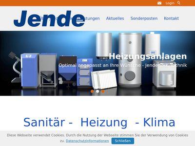 Jende Sanitär-Heizungs- Klimatechnik GmbH