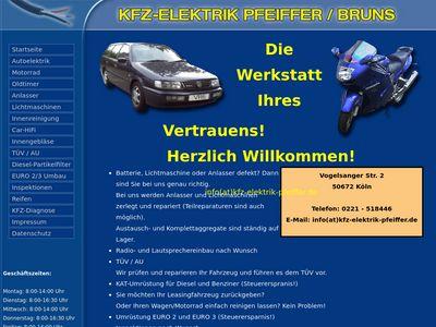 KFZ Elektrik Pfeiffer-Bruns