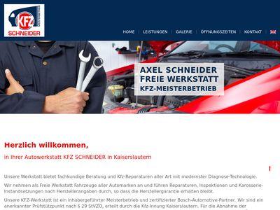 Schneider Axel KFZ-Meisterbetrieb