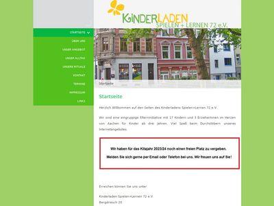 Kindergarten Lernen u. Spielen