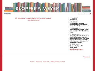 Klöpfer&Meyer Verlag