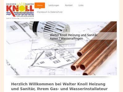 Knoll Walter Heizung Sanitär