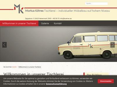 Tischlermeister Markus Köhres
