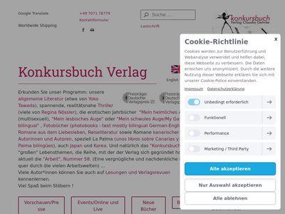 Konkursbuch Verlag Claudia Gehrke