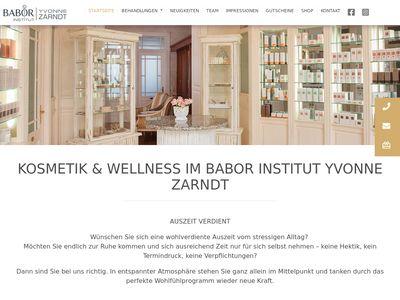 Babor Institut Yvonne Zarndt