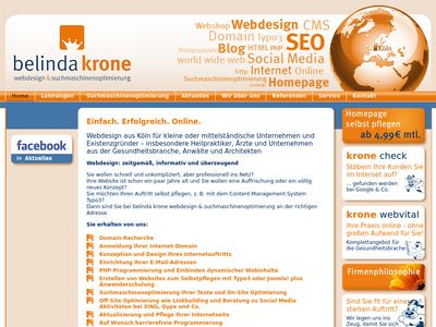 Belinda krone webdesign