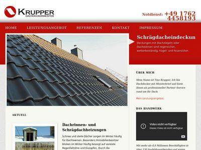 Dachdeckermeister Tino Krupper