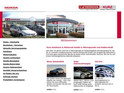 Honda-Auto und Motorrad Kurz
