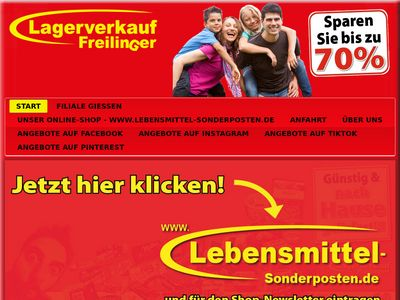 Lagerverkauf - Freilinger Märkte