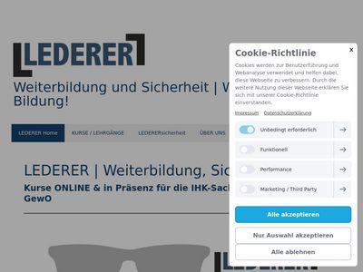 LEDERER-training - Schulungen für Sicherheit
