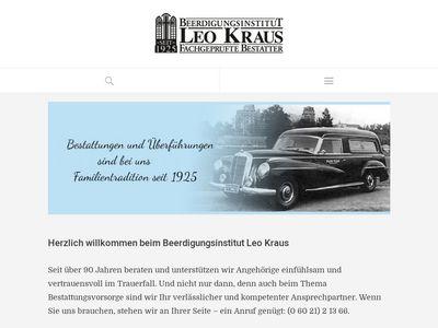 Beerdigungsinstitut Leo Kraus GmbH