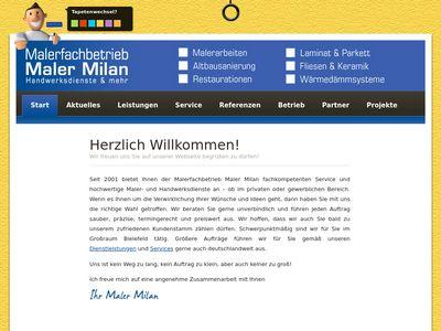 Der Maler Milan Davidivic Milan