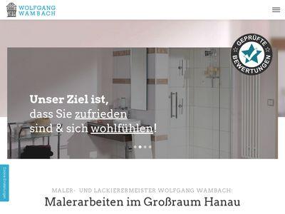 Wolfgang Wambach Malerbetrieb