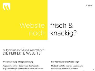 MattGelb Webdesign - Webentwicklung