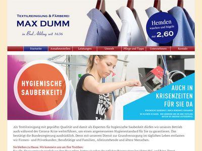 Textilreinigung Färberei Max Dumm