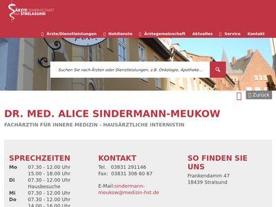 DR. MED. ALICE SINDERMANN-MEUKOW