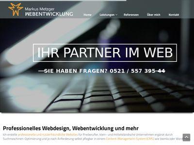 Metzger - Webdesign + Webentwicklung