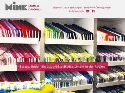 Mink Stoffe und Gardinen Raumausstattung/Stoffe