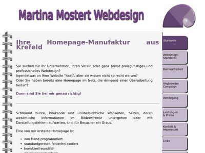 Martina Mostert Webdesign