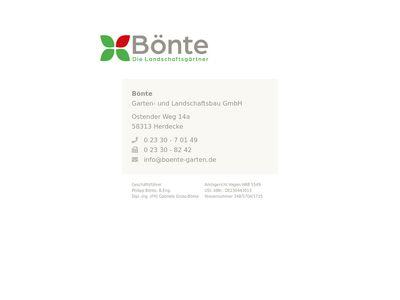 Bönte Garten- und Landschaftsbau GmbH
