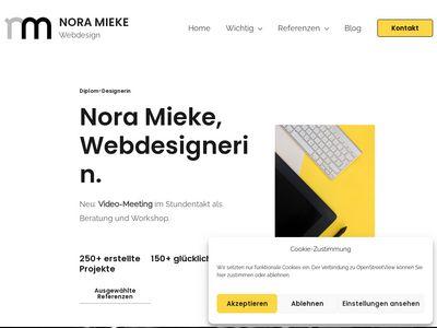 Nora Mieke Webdesign