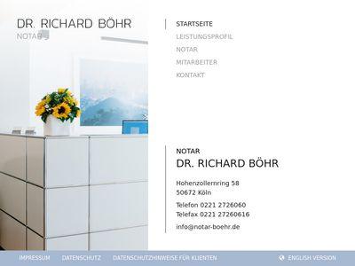 Notar Dr. Richard Böhr