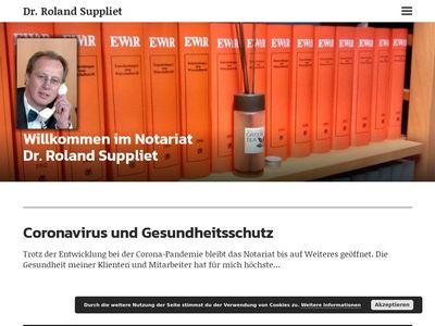 Suppliet Roland Dr. Notar Notare