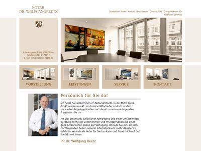 Dr. Wolfgang Reetz Notar