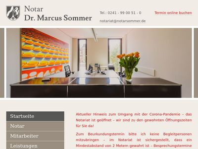 Dr. Marcus Sommer Notar