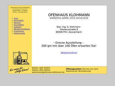 Klohmann Ofenhaus