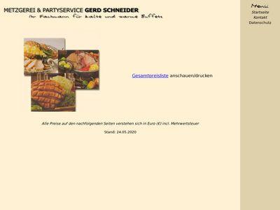 Gerd Schneider Metzgerei Partyservice