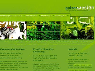 Webdesigner patzerDesign