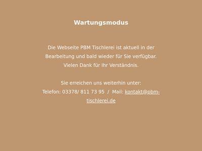 PBM - Tischlerei
