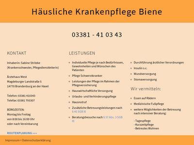 Sabine Stritzke Häusliche Krankenpflege