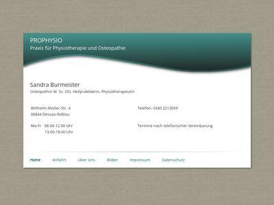 Physiotherapie und Osteopathie Burmeister