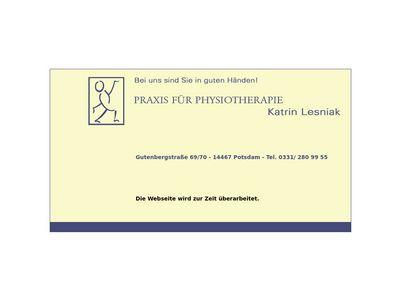Katrin Lesniak Physiotherapie