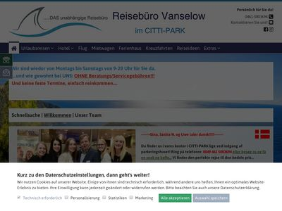 Reisebüro Vanselow im CITTI PARK
