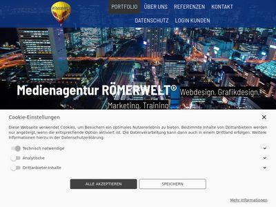 RÖMERWELT-Webdesign