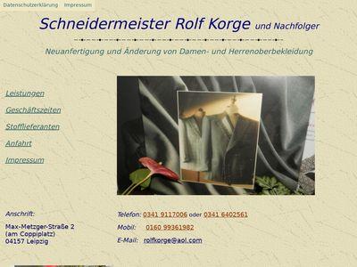 Rolf Korge Schneidermeister