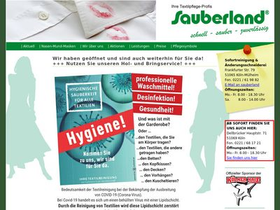 Sauberland - Textilreinigung Köln