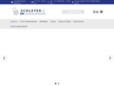 SCHLEYER Sicherheit & Technik
