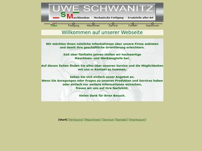 Uwe Schwanitz Maschinenbau
