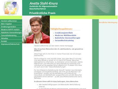 Anette Stahl Fachärztin f. Allgemeinmedizin