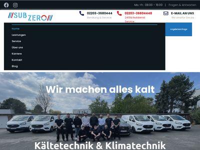 SUB ZERO Kälte Klima GmbH