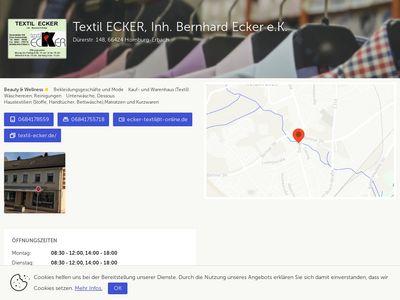 Textil ECKER, Inh. Bernhard Ecker e.K.